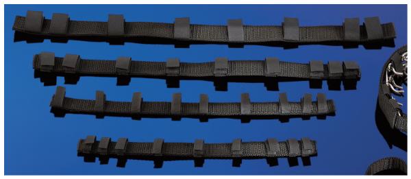 Nylonverkleidung für Dressurhalsketten, schwarz