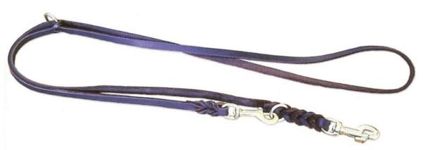 Hundeleine aus Leder Fettlederleine,geflochten, 2-fach verstellbar
