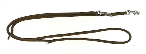 Lederleine für Hunde / Führleine aus Rundleder, dunkelbraun / Führleine aus Nappaleder
