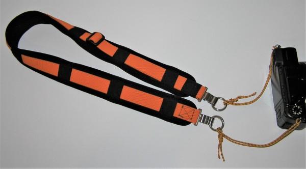 CS-Kameragurt, extra lang mit Schultergurpolster / Tragegurt für Kamera mit Guradapter