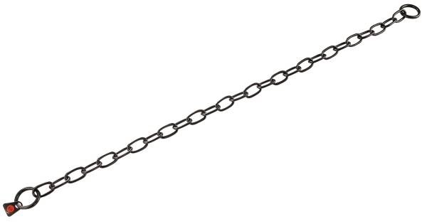 Hundehalskette Typ Medium, Edelstahl schwarz rostfrei, 3mm